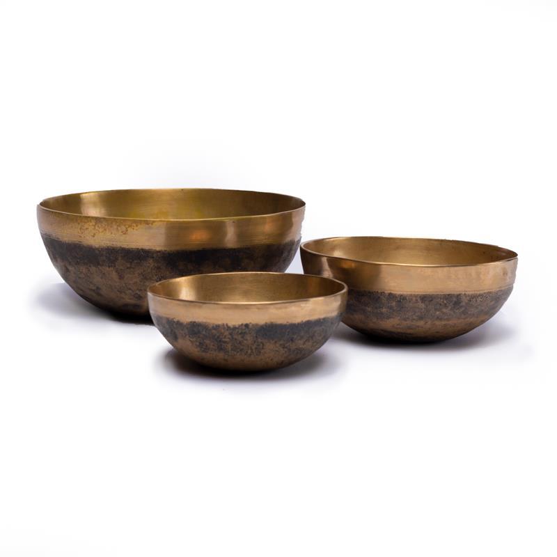 Tibetské mísy Chaken černo-bronzové